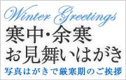 写真はがきで厳冬期のご挨拶【寒中見舞い・余寒見舞いはがき】